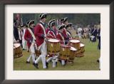 British Drummer Boys in a Reenactment of the Surrender at Yorktown Battlefield, Virginia Prints