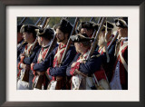 Continental Army Soldiers Reenact a March at Yorktown Battlefield, Virginia Posters