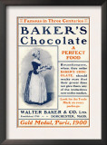 Ad for Baker's Chocolate, c.1900 Poster