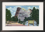 Mount Rushmore National Park, South Dakota - View of the Mt. Rushmore Memorial, c.1935 Posters