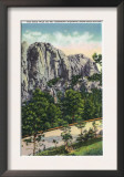 Black Hills, South Dakota - View of the Rock Wall on the Mount Rushmore Highway, c.1935 Posters
