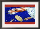 Mondrakete / Sky-Rocket Posters by  Karlicek