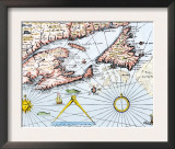Samuel de Champlain's Map of the Gaspee and Gulf of the Saint Lawrence River, c.1632 Posters