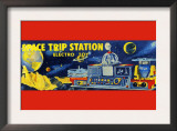 Space Trip Station Electro Toy Posters
