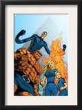 Fantastic Four 570 Cover: Thing, Invisible Woman, Human Torch and Mr. Fantastic Prints by Dale Eaglesham