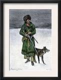 French-Canadian Trapper in the Snow Posters