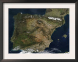 The Iberian Peninsula Prints by  Stocktrek Images
