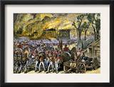 Capture and Burning of Washington D.C. by the British in 1814 Prints