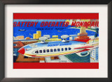 """Battery Operated Monorail """"Rocket Ship"""" Prints"""