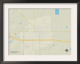 Political Map of Brookshire, TX Prints