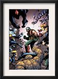 Marvel Team-Up 18 Cover: Chronok, Thing, Speedball and X-23 Prints by Paco Medina