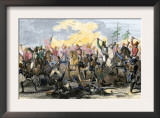 Battle of Waxhaw, South Carolina during the American Revolutionary War, May 29, 1780 Prints