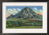 Black Hills, South Dakota - Panoramic View of Bear Butte Near Sturgis, c.1935 Art