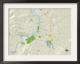 Political Map of Salem, OR Prints
