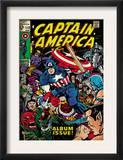 Marvel Comics Retro: Captain America Comic Book Cover 112, Album Issue! (aged) Posters