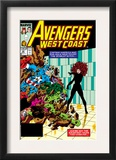 Avengers West Coast 47 Cover: Scarlet Witch, Captain America and She-Hulk Prints by John Byrne