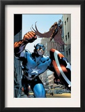 Captain America And The Falcon 12 Cover: Captain America and Falcon Print by Trevor Hairsine