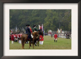 American, French, and British Armies on the Field in a Reenactment of the Surrender at Yorktown Prints