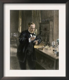 Louis Pasteur in His Laboratory Print