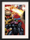 Black Panther 29 Group: Black Panther, Thing, Storm, Human Torch and Lyja Prints by Francis Portella
