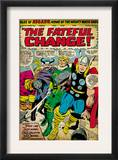 Marvel Comics Retro: Mighty Thor Comic Panel, Tales of Asgard, the Fateful Change! (aged) Prints