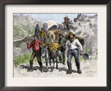 Prospectors Looking for New Diggings during the Gold Rush, c.1850 Prints
