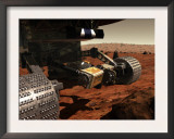 A Close-Up View of the Arm on Nasa's Mars 2003 Rover Print by  Stocktrek Images