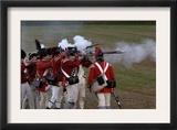 British Sortie against a Redoubt Reenactment at Yorktown Battlefield, Virginia Poster