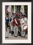 American Army Reenactors March to the Surrender Ceremony at Yorktown Battlefield, Virginia Print
