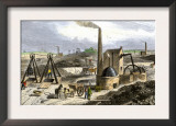 Whimsey Engine Drawing Coal in the Staffordshire Mines, England, c.1850 Posters