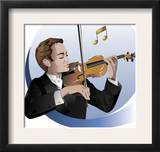 Male Violinist Poster