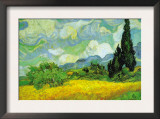 Cypresses Art by Vincent van Gogh