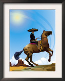 Mexican Caballero on Horseback, Grouped Elements Prints