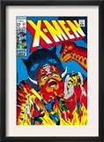 X-Men 51 Cover: Erik The Red, Cyclops, Angel, Iceman and X-Men Prints by Arnold Drake