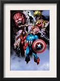 Avengers 99 Annual: Captain America, Iron Man, Wasp and Avengers Poster by Leonardo Manco