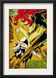 Marvel Comics Retro: X-Men Comic Panel, Phoenix, Emma Frost, Fighting (aged) Poster