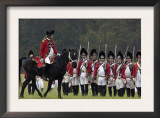 British Army on the Field in a Reenactment of the Surrender at Yorktown Battlefield, Virginia Posters