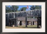 Fort Mandan, Reconstructed Lewis and Clark Campsite on Missouri River, North Dakota Prints