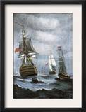 British Ships Blockading Chesapeake Bay at the Outset of the War of 1812 Print