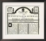 Pennsylvania Journal and Weekly Advertiser Protesting the Stamp Act, c.1765 Prints