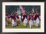 British Fife and Drum Corps Takes the Field in a Reenactment of the Surrender at Yorktown Prints