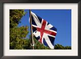 British Flag over Inner Defensive Redoubt at Yorktown Battlefield, Virginia Print