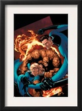 Marvel Knights 4 20 Cover: Mr. Fantastic, Invisible Woman, Human Torch, Thing and Fantastic Four Print by Valentine De Landro