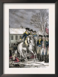 Hessian Commander Rahl Mortally Wounded during the American Attack on Trenton, c.1776 Posters