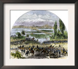 U.S. Army Approaching Mexico City during the U.S.-Mexican War, c.1840 Posters