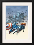 Marvel Team-Up 6 Cover: Black Widow and Captain America Swinging Prints by Scott Kolins