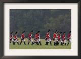 British Army on the Field in a Reenactment of the Surrender at Yorktown Battlefield, Virginia Prints