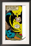 Marvel Comics Retro: X-Men Comic Panel, Wolverine (aged) Art