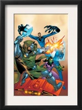 Fantastic Five 2 Cover: Dr. Doom, Mr. Fantastic, Invisible Woman and Lyja Print by Ron Lim