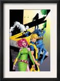Exiles 46 Cover: Blink, Mimic, Namora, Morph, Sasquatch and Exiles Posters by Mizuki Sakakibara